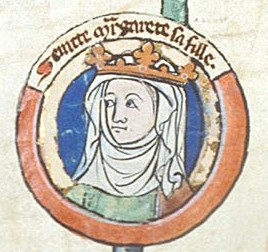Saint Margaret from a medieval family tree
