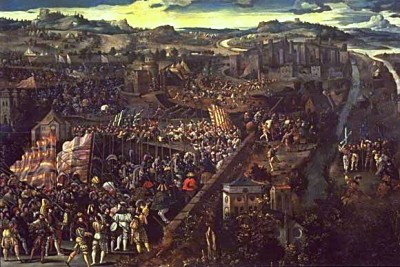 Battle_of_Pavia,_oil_on_panel. - Italian Warsjpg