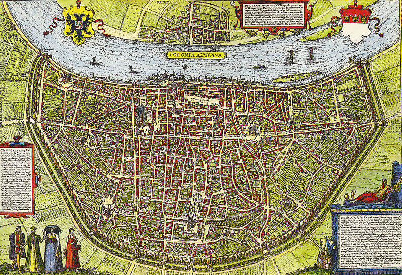 Map of Cologne, circa 1600