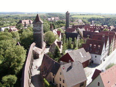 Rothenburg Walled Medieval German Town