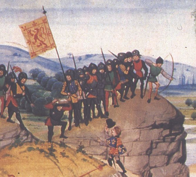 Anglo-Scottish Conflict - Scottish soldiers in_the_14thC