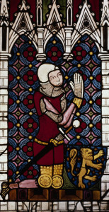 Knight praying - medieval clemency